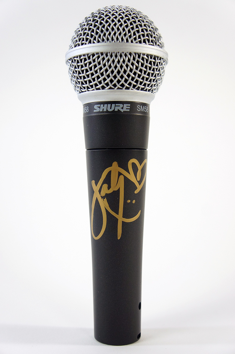 Shure microphone signed by Katy Perry