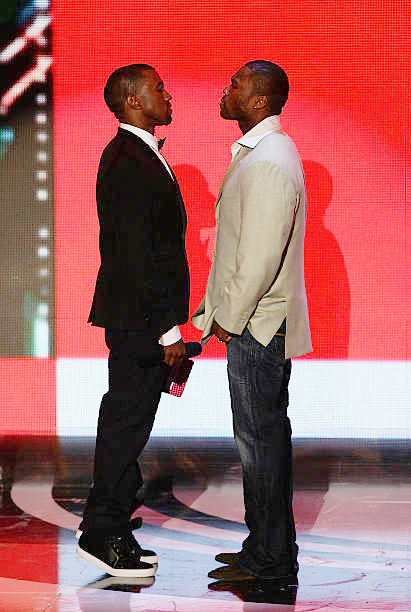 Kanye West and 50 Cent at the 2007 MTV VMAs