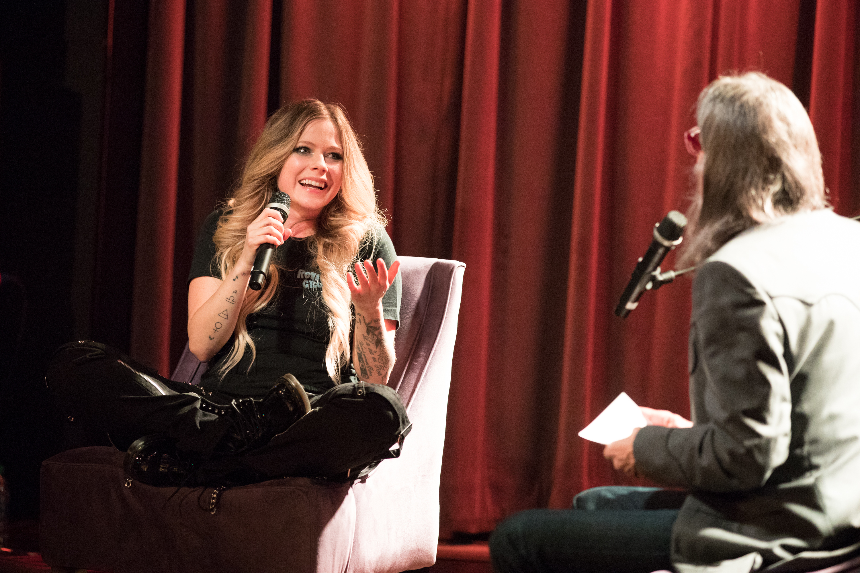 Avril Lavigne at the GRAMMY Museum