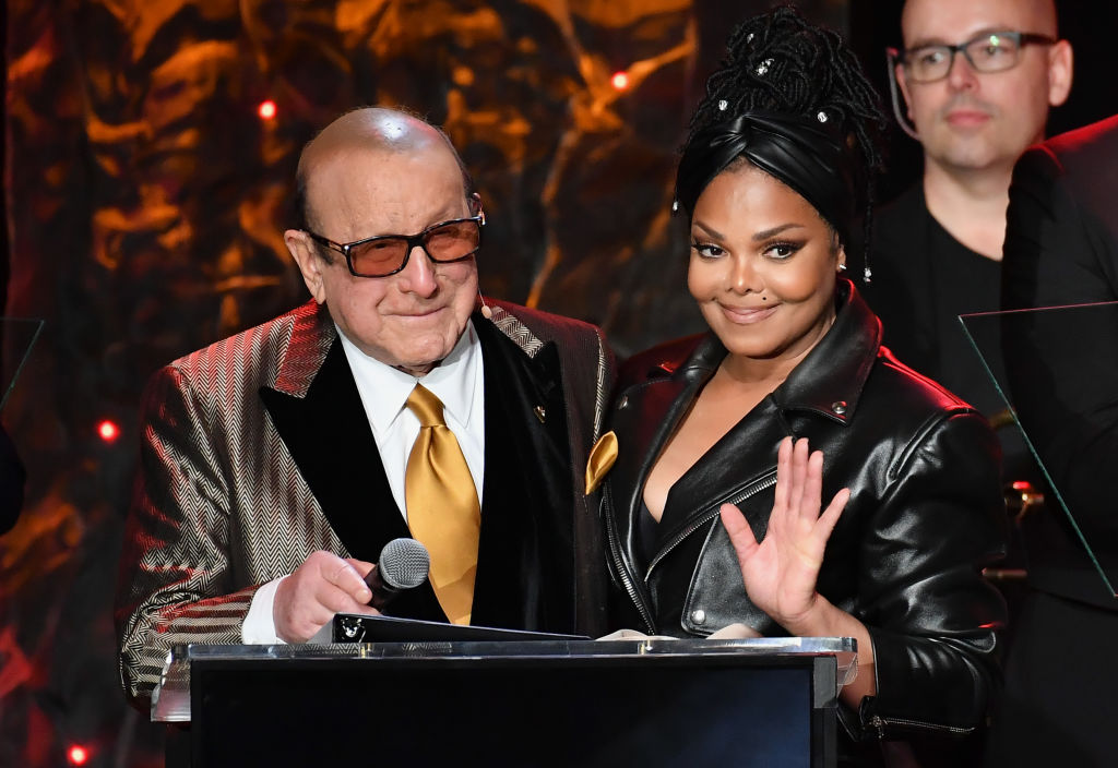 Clive Davis and Janet Jackson at 2020 Pre-GRAMMY Gala