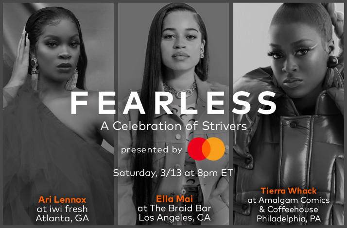 Mastercard's Fearless: A Celebration of Strivers on March 13, 2021