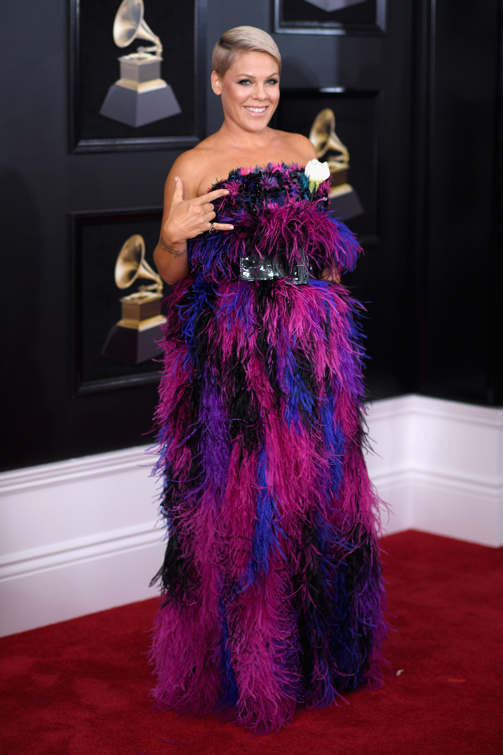 Pink at the 60th GRAMMY Awards in 2018