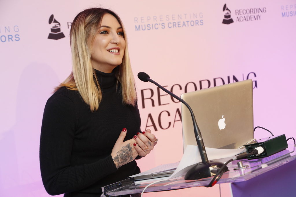 Julia Michaels at the GRAMMY Advocacy open house.
