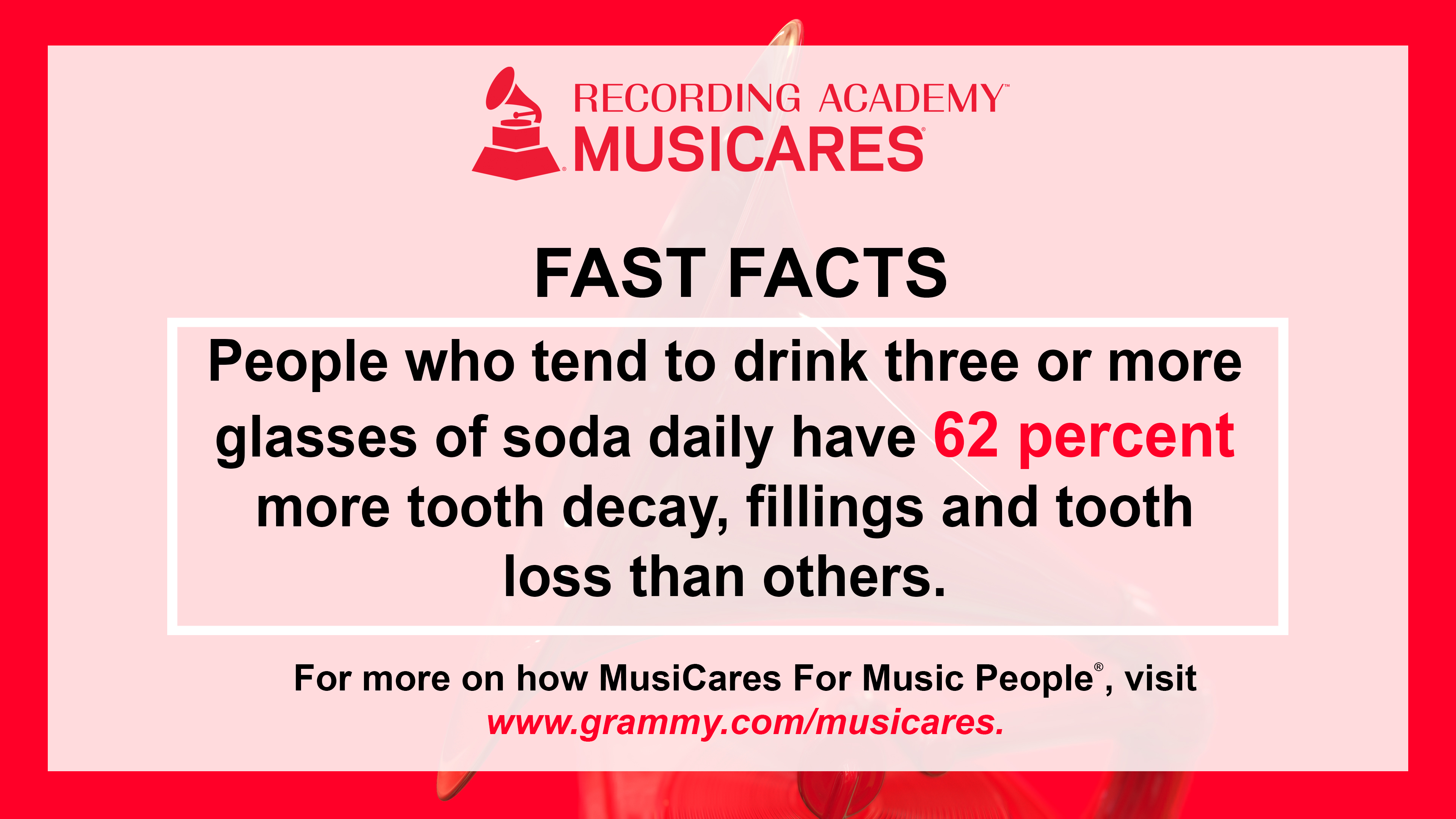 MusiCares fast fact on dental health