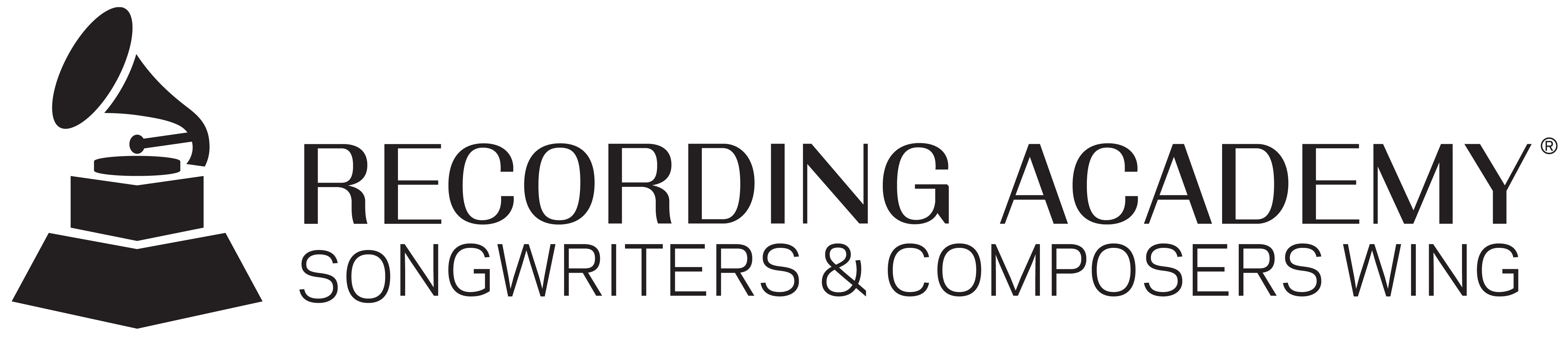 Songwriters and Composers Wing Black Logo