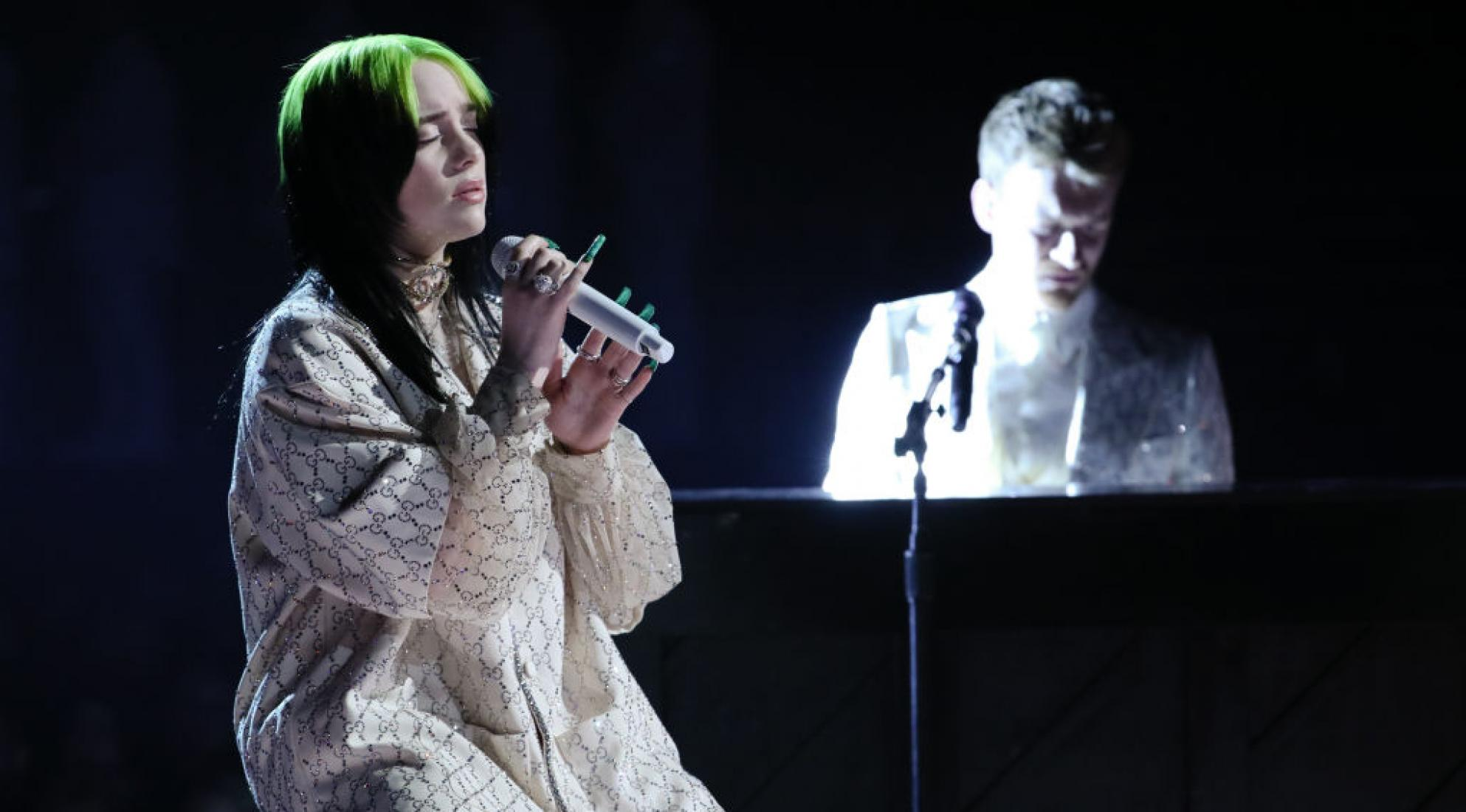 Billie Eilish performs at the 2020 GRAMMYs