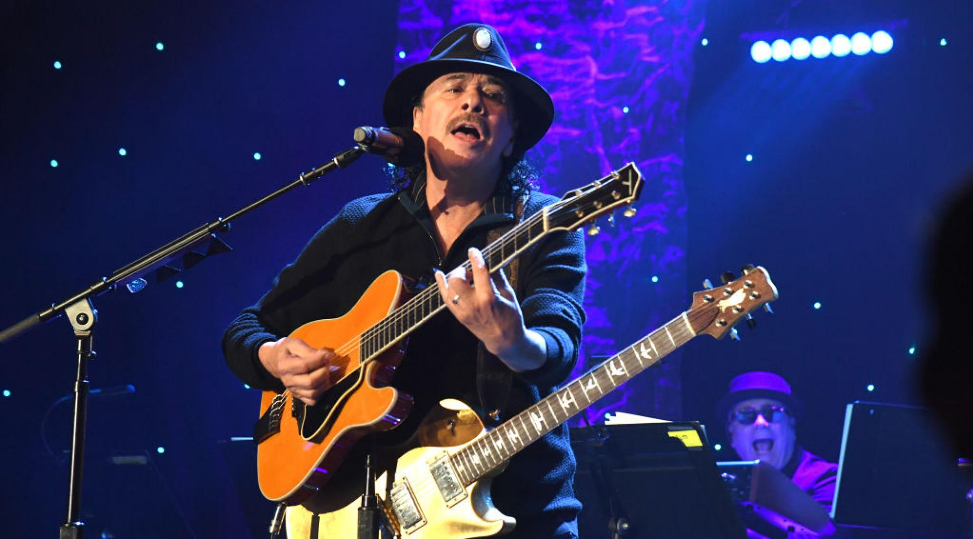 Carlos Santana performs at the 2020 Pre-GRAMMY Gala and GRAMMY Salute to Industry Icons