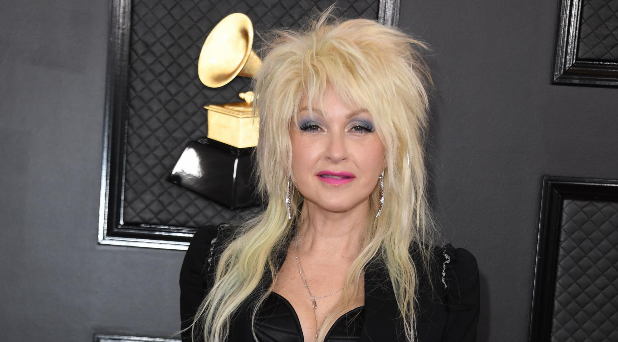 US singer Cyndi Lauper arrives for the 62nd Annual Grammy Awards on January 26, 2020, in Los Angeles