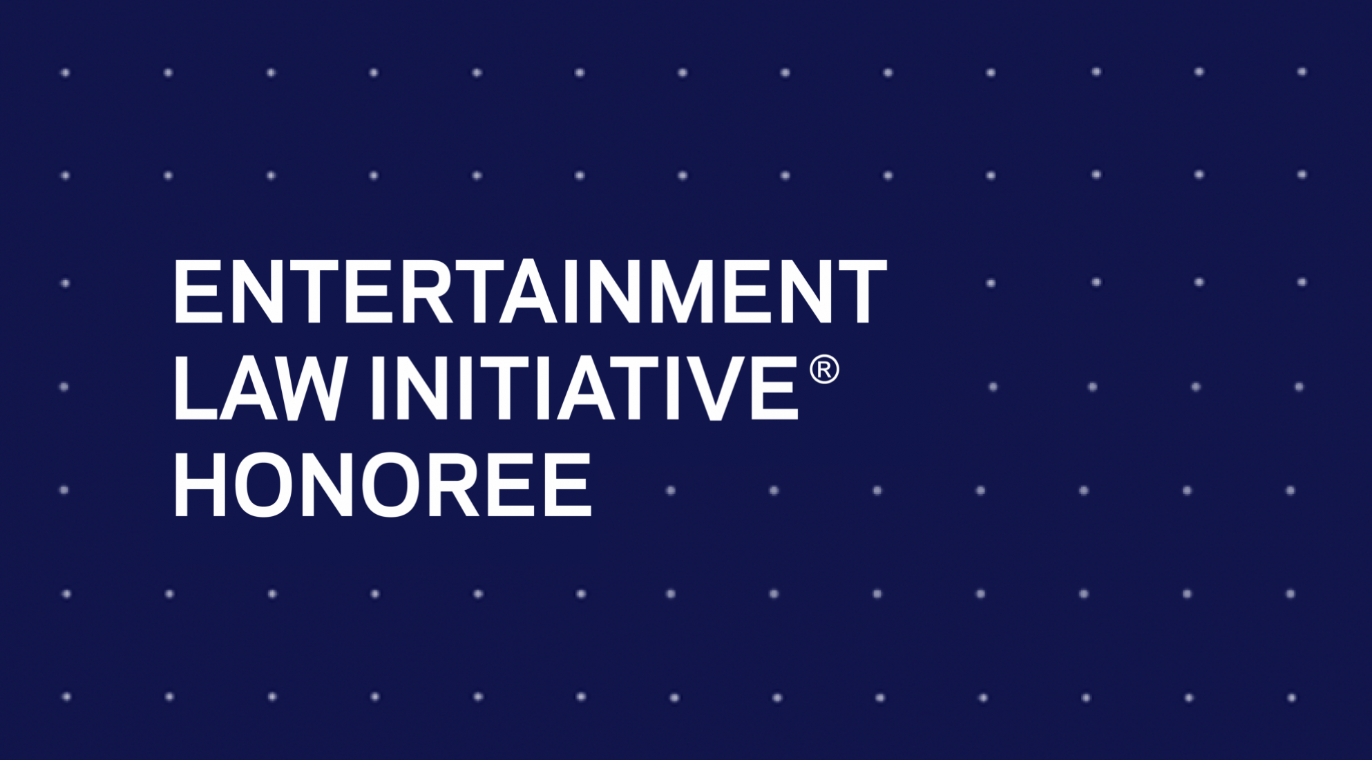 23rd Annual Entertainment Law Initiative® Event & Scholarship Presentation