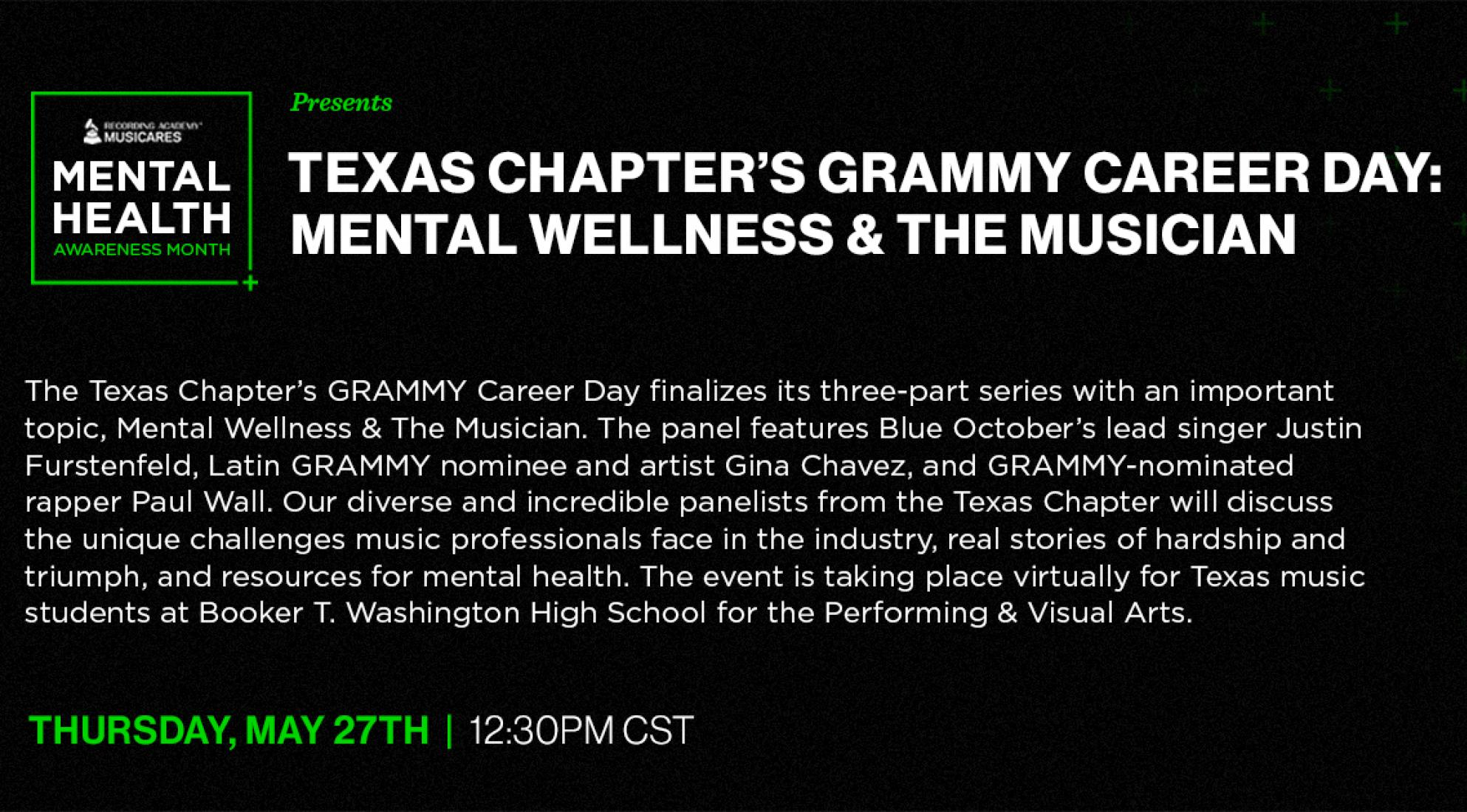 GRAMMY Career Day: Mental Wellness and The Musician