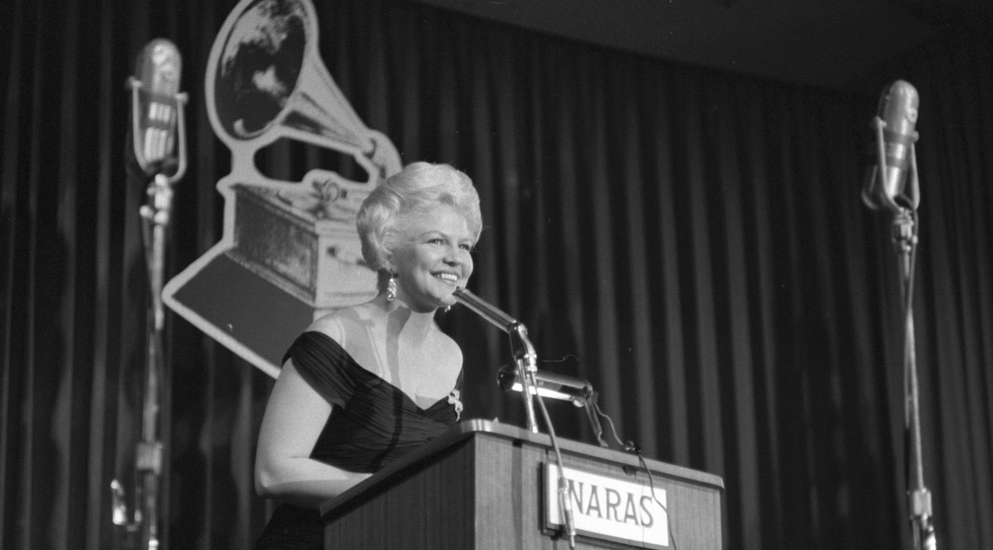 Peggy Lee at the 1st GRAMMY Awards