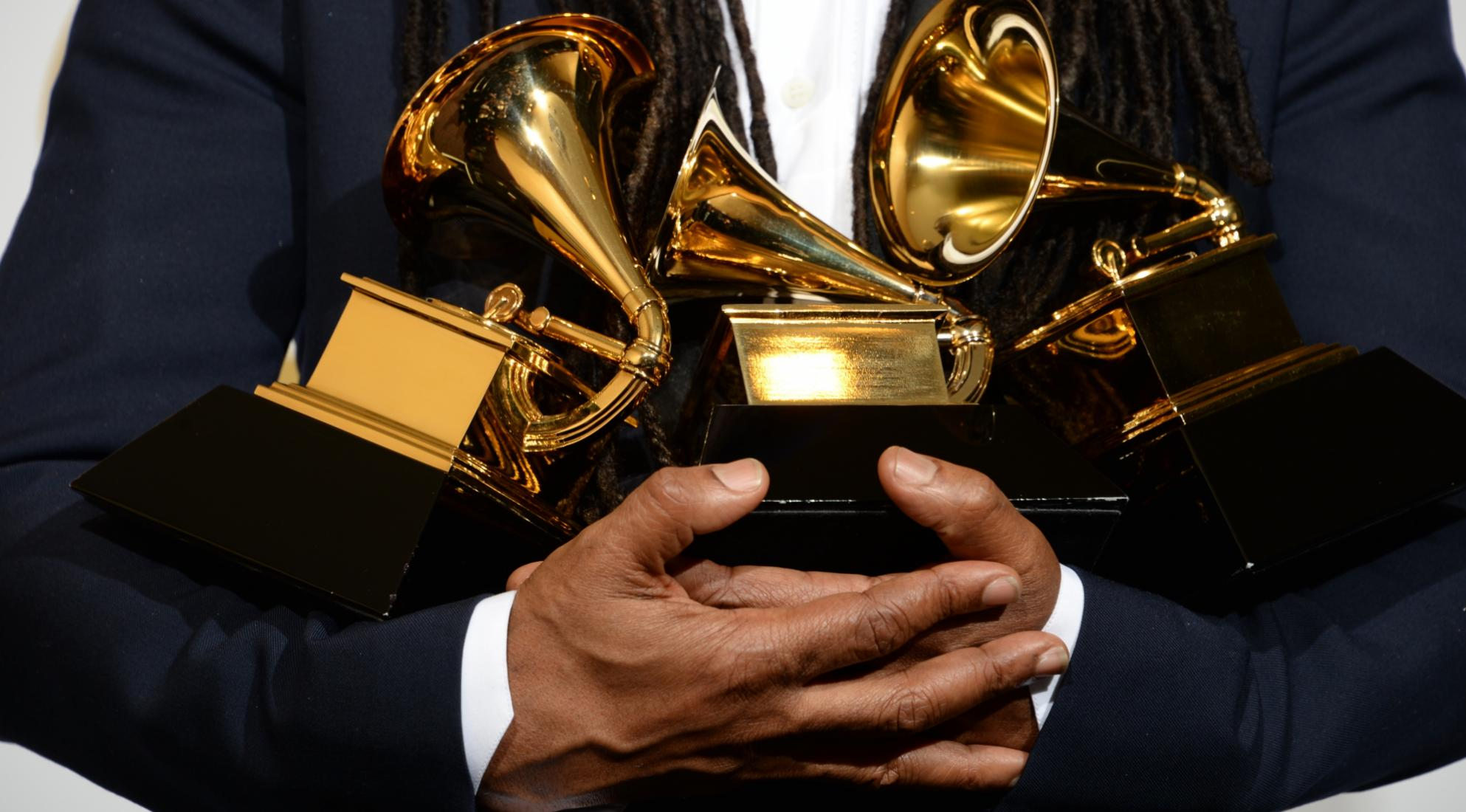 GRAMMY Awards in arms