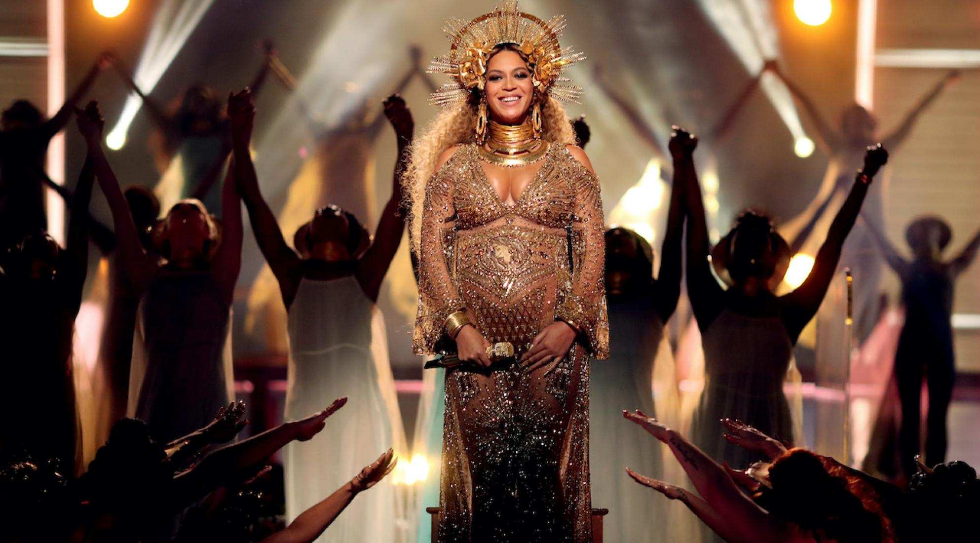 Beyoncé during the 59th GRAMMY Awards in2017
