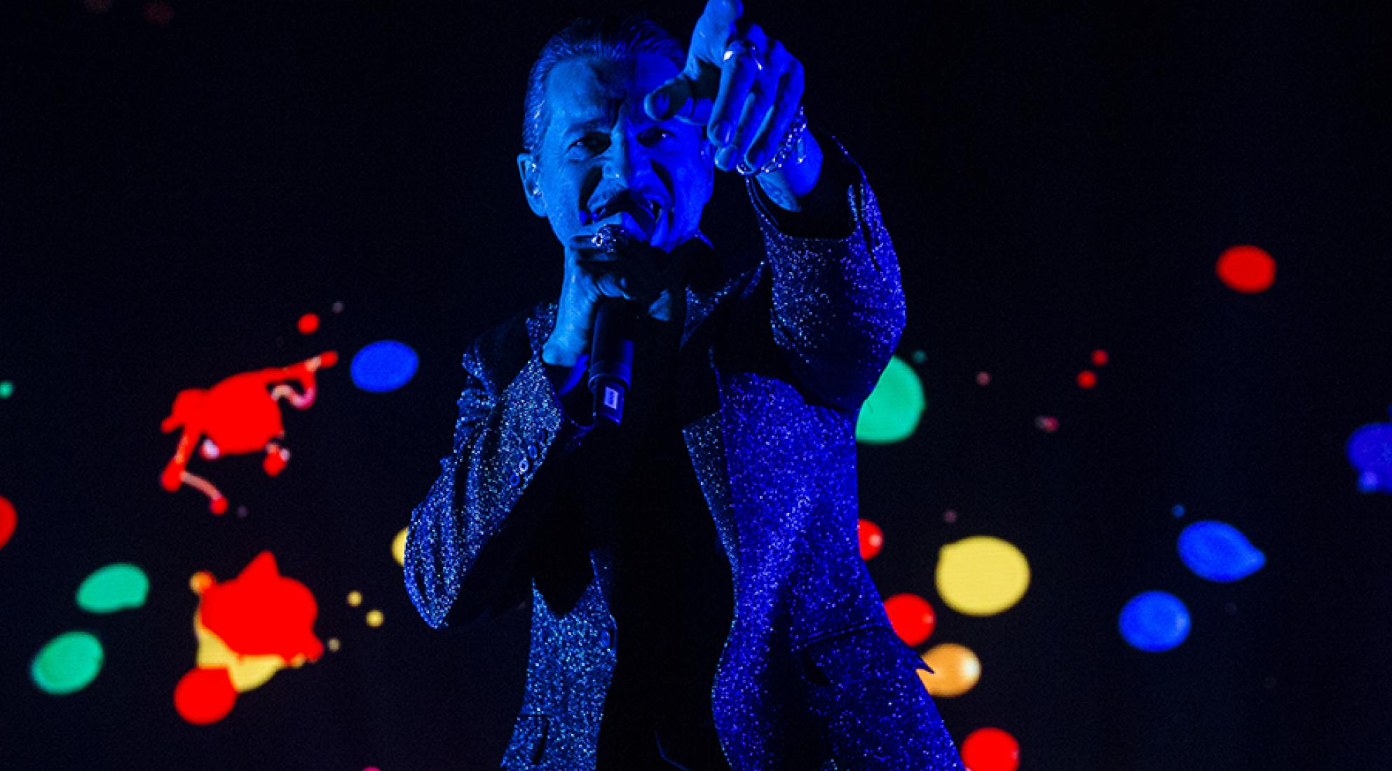 Depeche Mode's Dave Gahan perform in Stockholm 2017