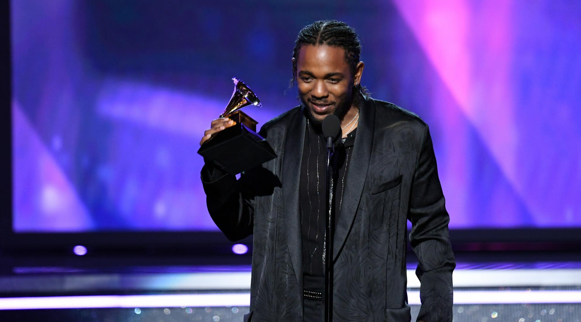 Kendrick Lamar at the 60th GRAMMY Awards in 2018
