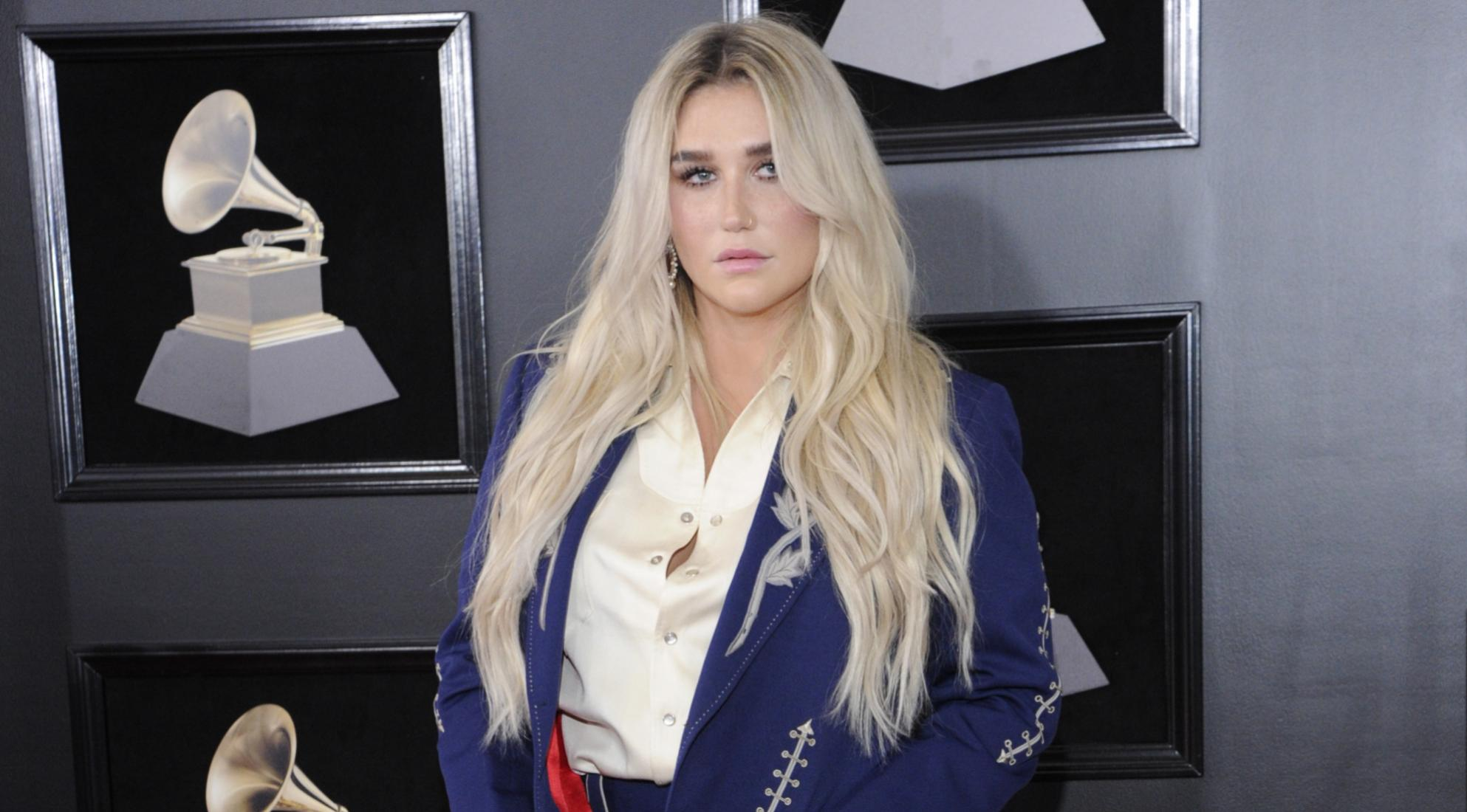 Kesha at the 60th GRAMMY Awards