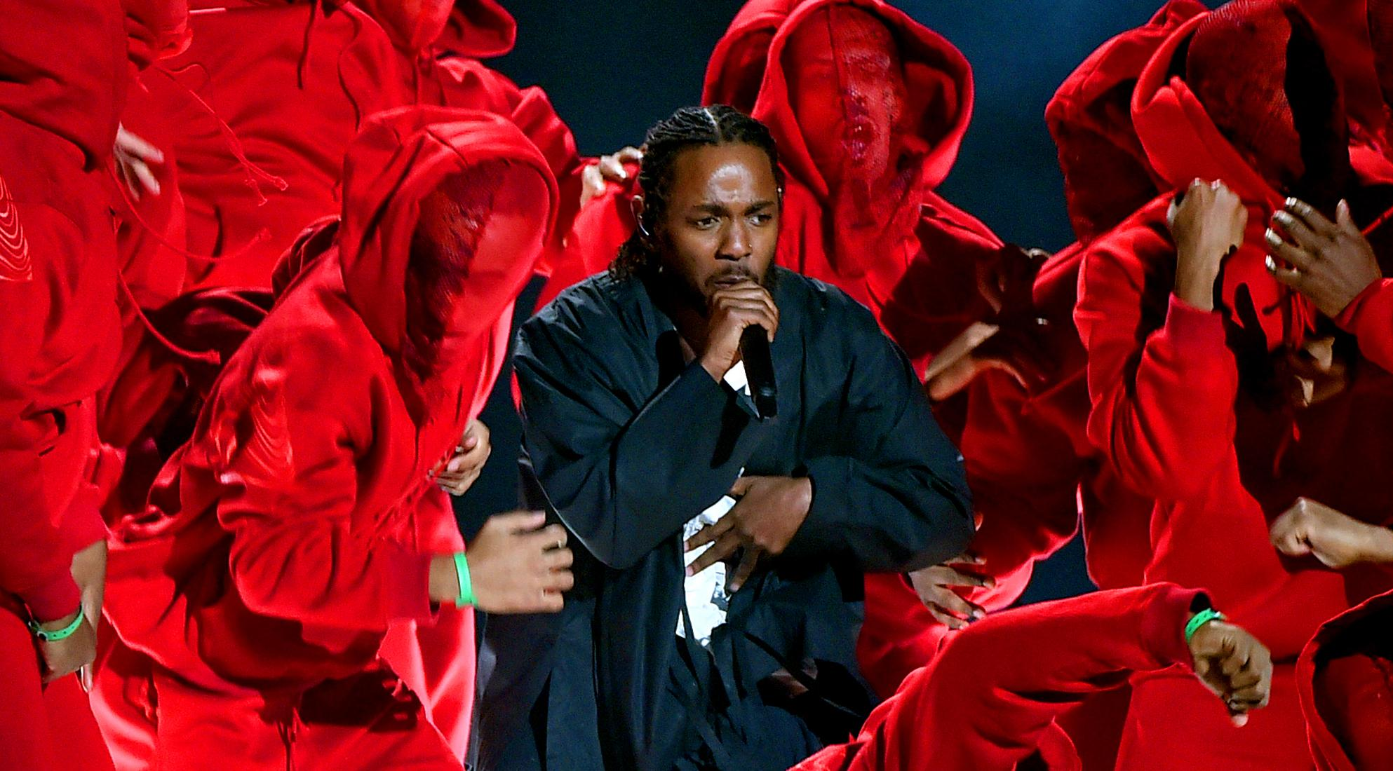 Kendrick Lamar at the 2018 GRAMMYs