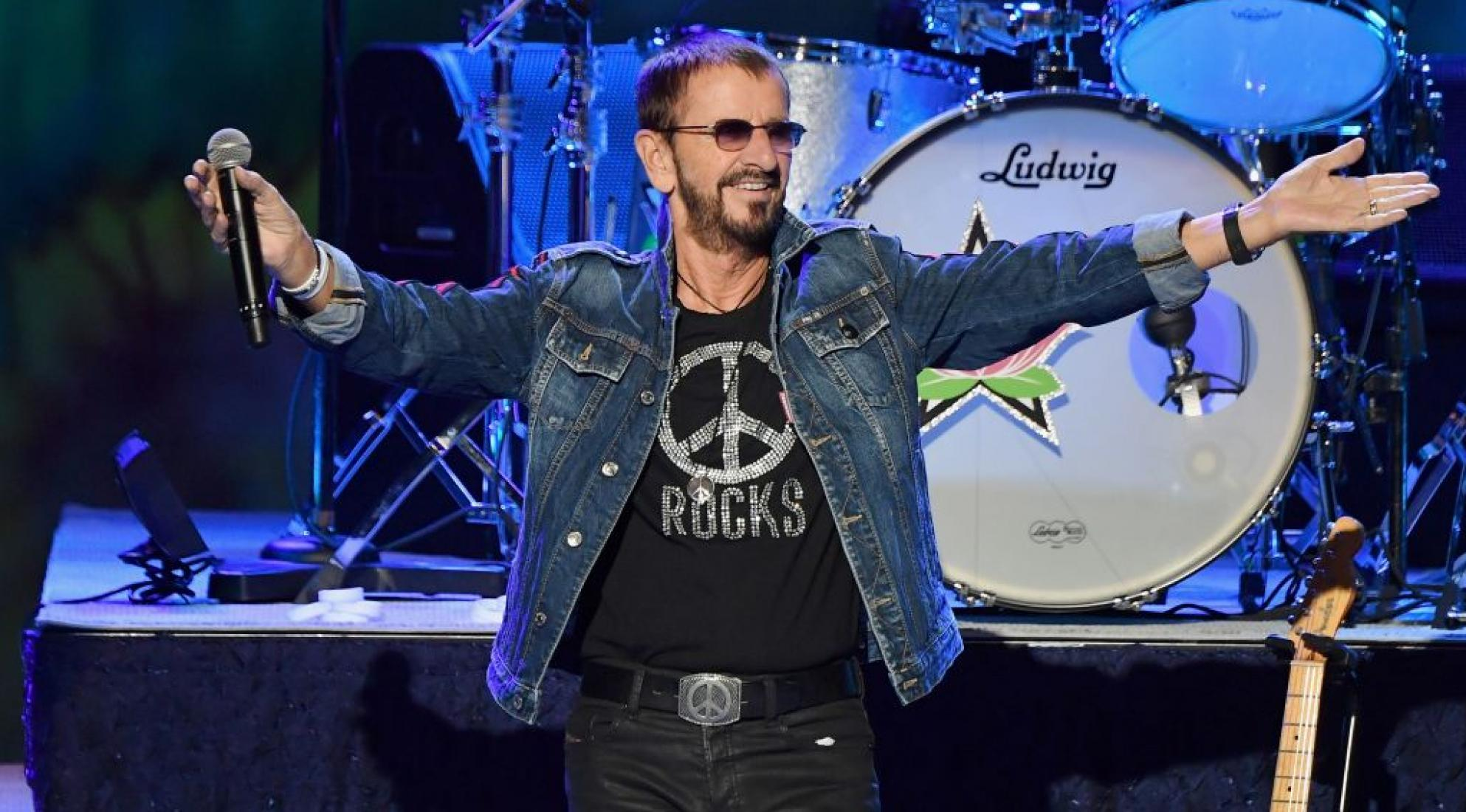 Ringo Starr performs at the 50th anniversary celebration of Woodstock in 2019