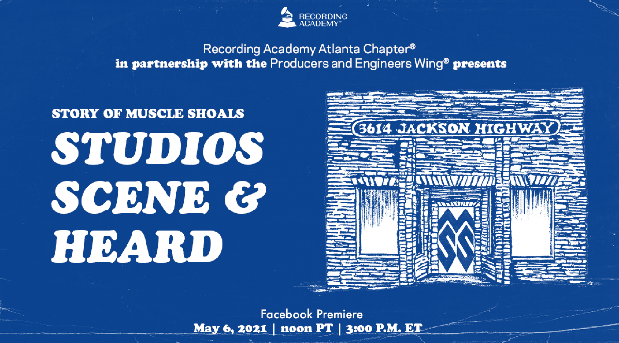 Artwork for Story of Muscle Shoals Studios Scene and Heard event