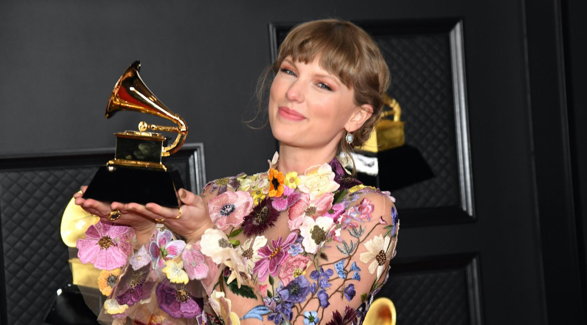 Photo of Taylor Swift at the 63rd Annual GRAMMY Awards in 2021