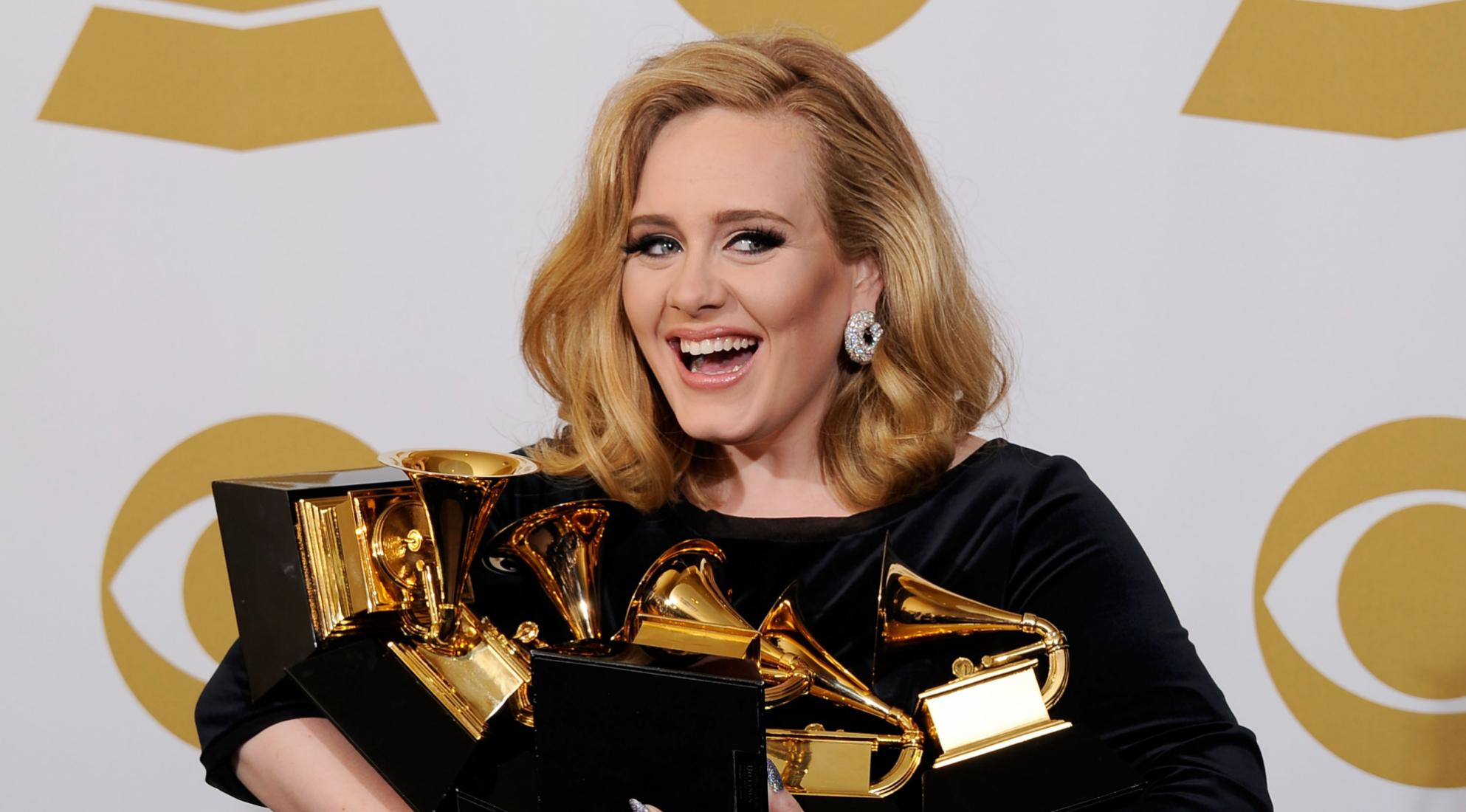 Adele at the 54th GRAMMY Awards in 2012