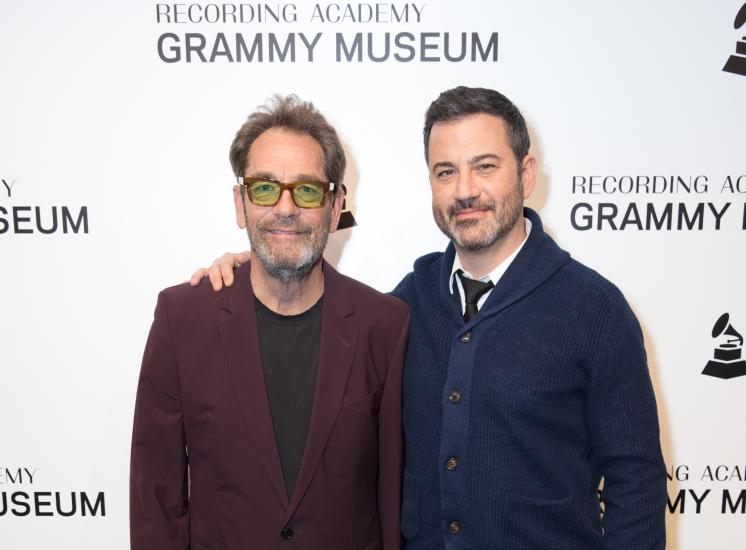 Huey Lewis & Jimmy Kimmel at the GRAMMY Museum