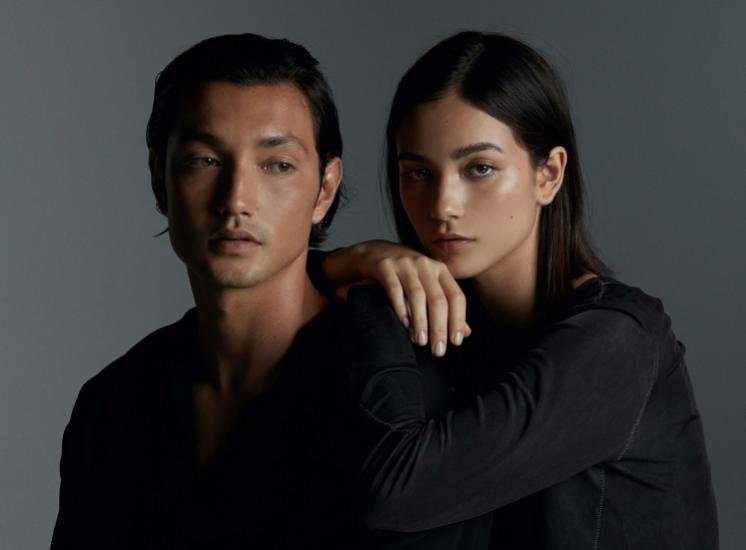 brother-sister duo Lastlings, aka Josh & Amy Dowdle, pose together in all-black