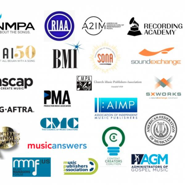 Organizations in unified support of music legislation