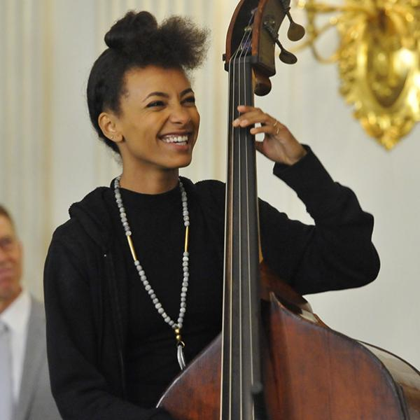 Esperanza Spalding performs at the White House in 2015
