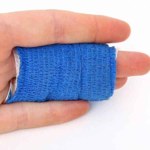 Finger wrapped from injury