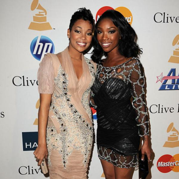 Brandy & Monica at 2011 Pre-GRAMMY Gala