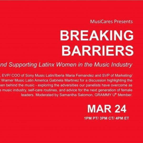 BREAKING BARRIERS: Celebrating and Supporting Latinx Women in the Music Industry Flyer