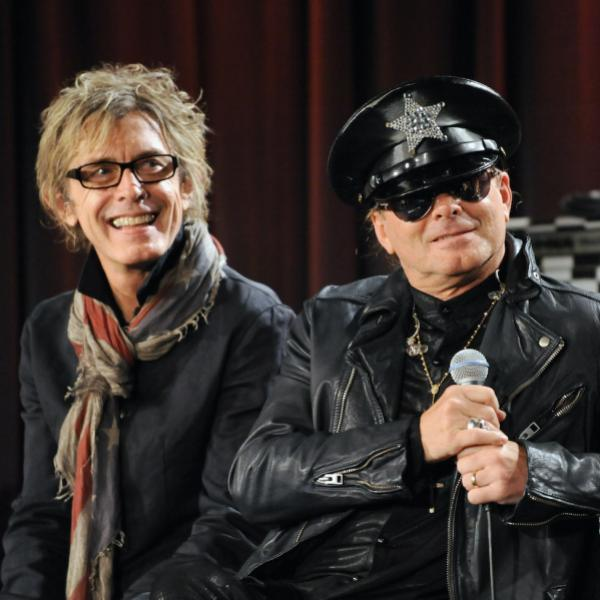 Tom Petersson (L) and Robin Zander (R) of Cheap Trick