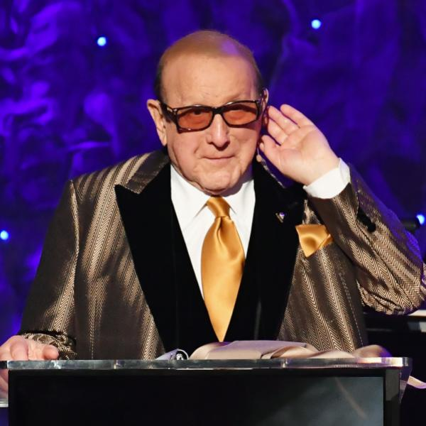 Clive Davis on-stage at 2020 Pre-GRAMMY Gala