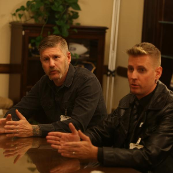 Kelliher and Dailor of Mastodon meet with Senator during GRAMMYs on the Hill
