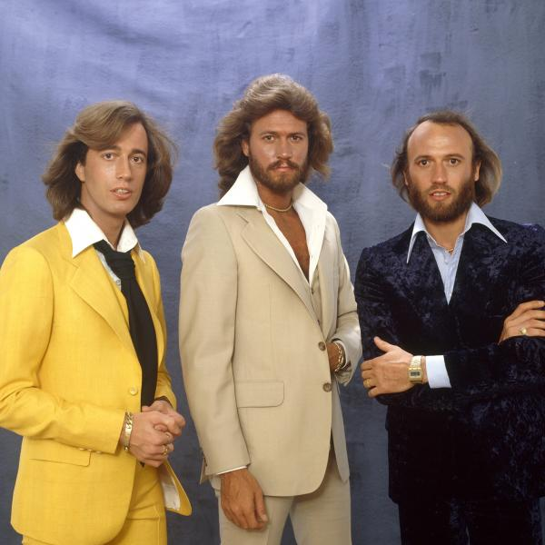 The Bee Gees photographed during a portrait session in 1979