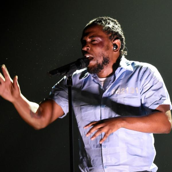 Kendrick Lamar performs at the 58th GRAMMY Awards