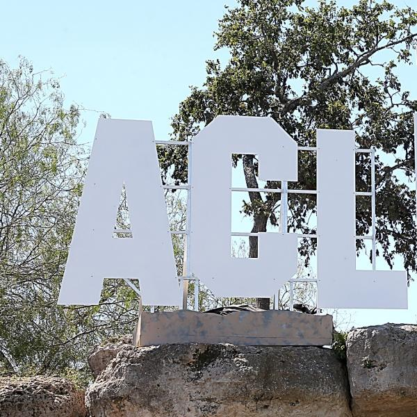 ACL Festival Welcome Sign