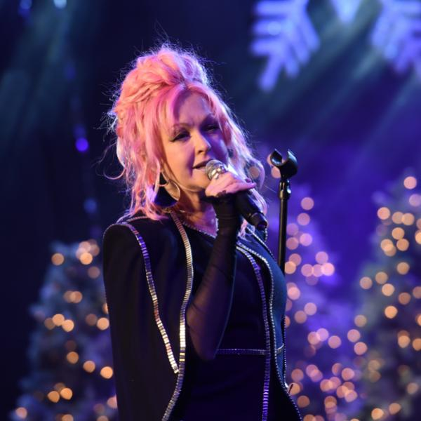 Cyndi Lauper performs in 2016