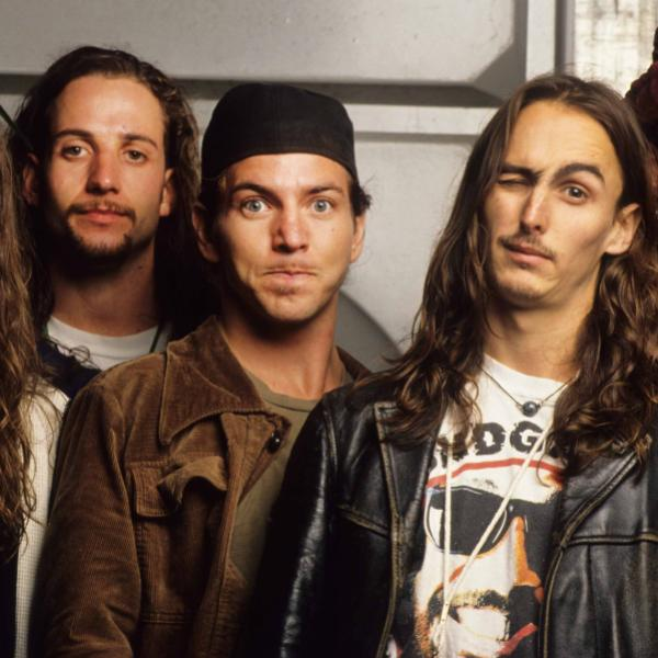 Pearl Jam photographed in 1992