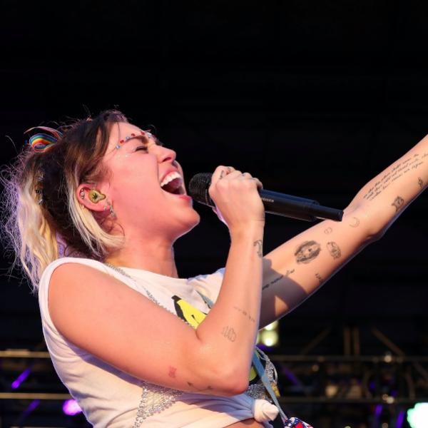 Miley Cyrus performs at the 2017 Capital Pride Concert