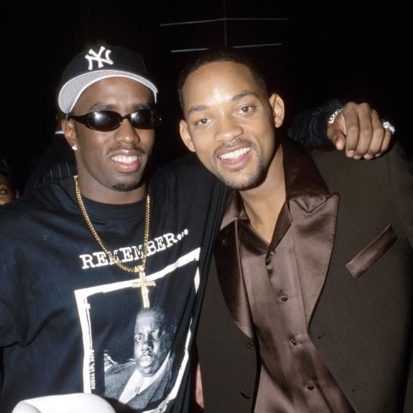 "Sean ""Puffy"" Combs and Will Smith at the 40th GRAMMYs in 1998"