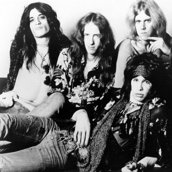 Aerosmith photographed in 1974