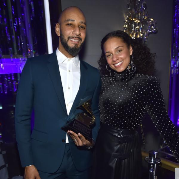 Swizz Beatz and Alicia Keys at the 2018 P&E Wing GRAMMY Week Celebration
