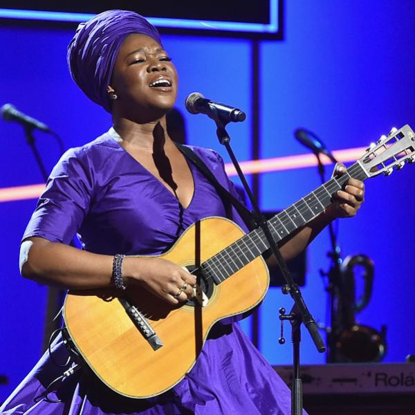India.Arie at the 60th GRAMMY Awards in 2018