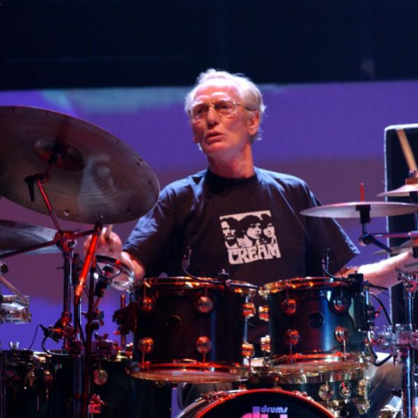 Ginger Baker plays with Cream in 2005