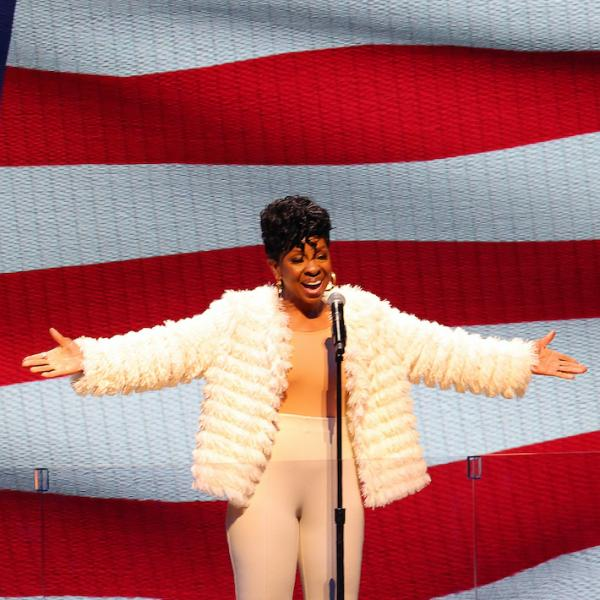 Gladys Knight performs at the 2021 NBA All-Star Game