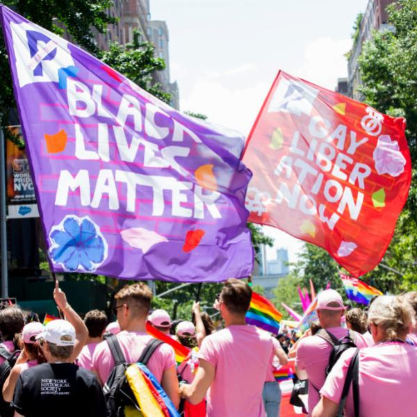 Attendees at 2019 Pride Parade in New York City