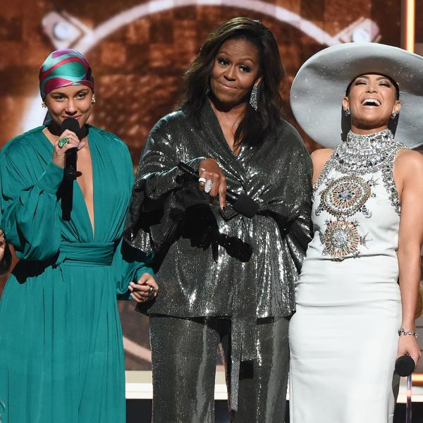 Lady Gaga, Jennifer Lopez, Jada Pinkett Smith, Michelle Obama & Alicia Keys at the 2019 GRAMMYs
