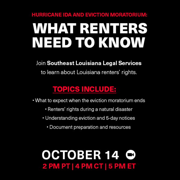 Eviction Moratorium: What You Need to Know (New Orleans) Graphic